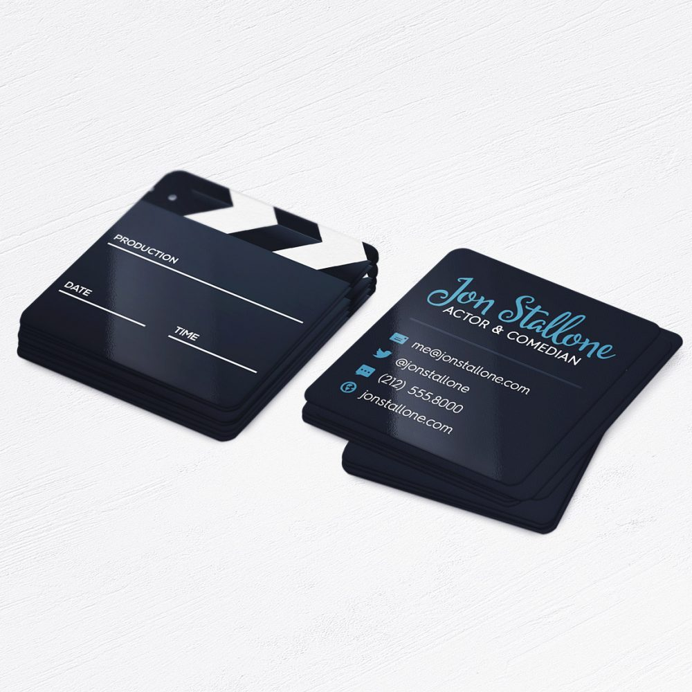 Actor Business Cards • Film Maker, Movie Producer, Video Editor • Calling Cards