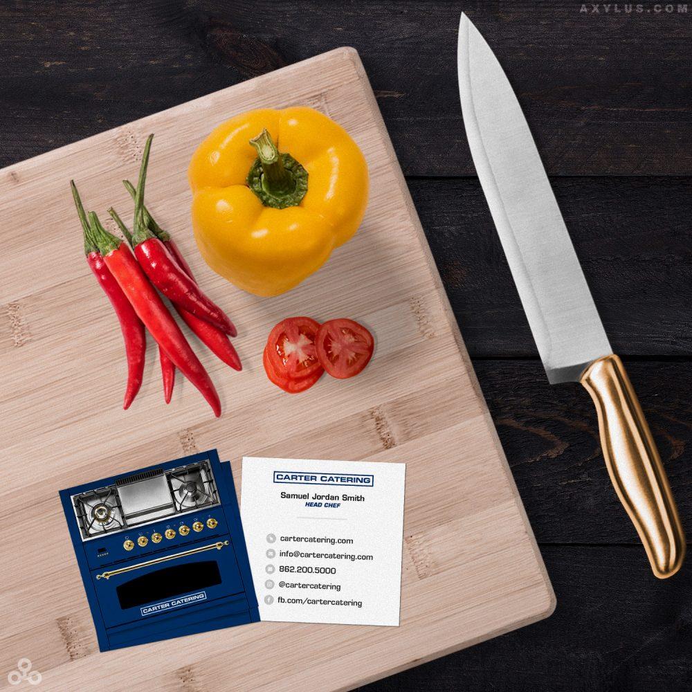 Blue Stove Design Caterer's Business Card