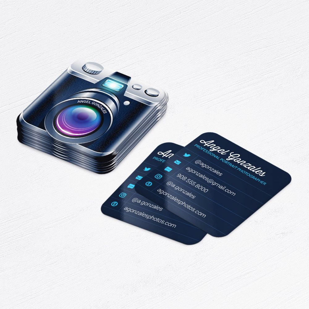 Mini Camera Photographer Business Cards • Photography Cards