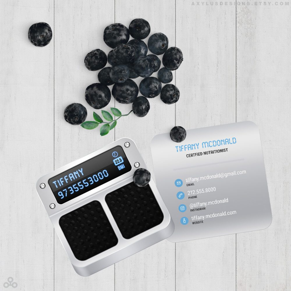 Digital Scale Nutritionist Business Cards