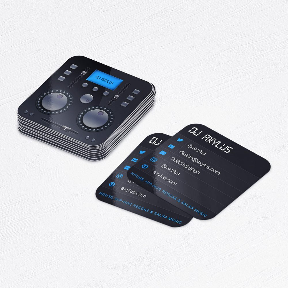 Music Mixer DJ Business Cards