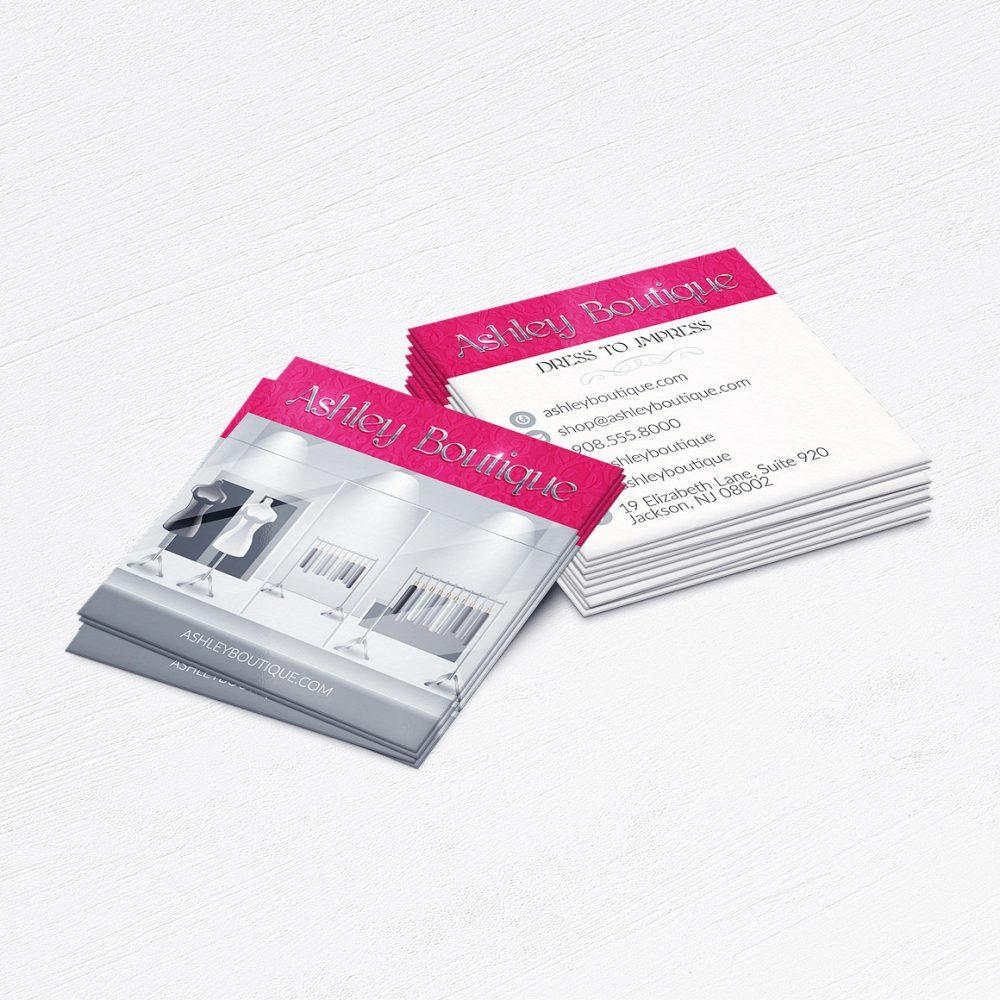 Fancy Dress Boutique Business Cards • Clothing Store Calling Cards