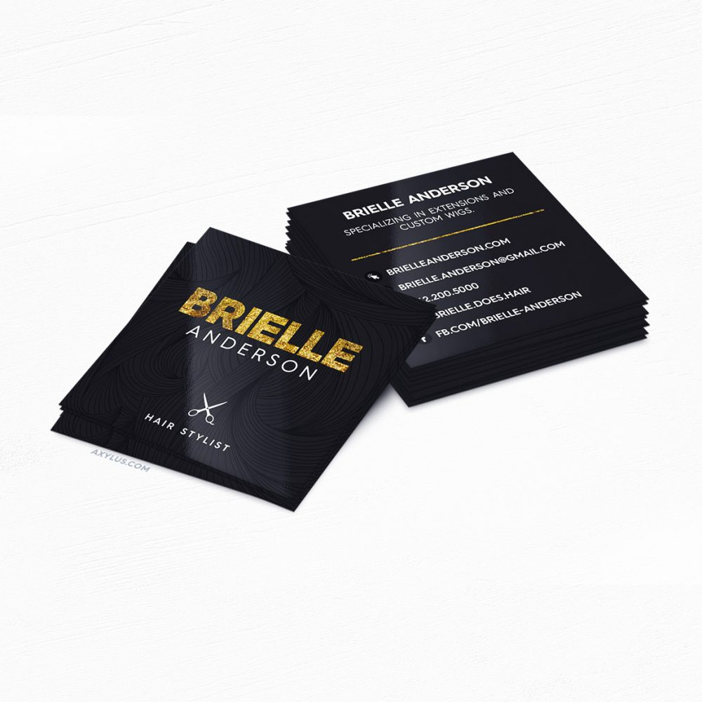 Hair Stylist Business Cards • Hair Salon Marketing Cards