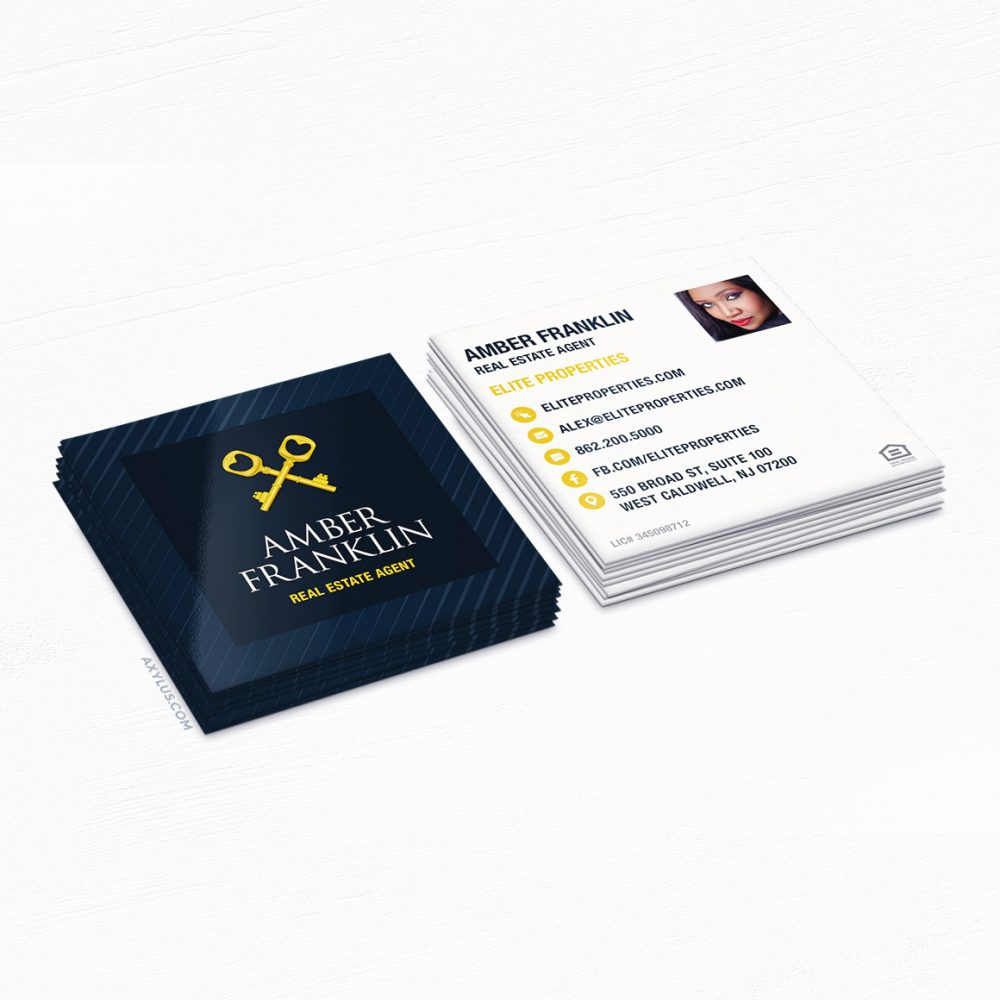 Real Estate Agent Business Cards • Property Manager, Realtor, Home Sales Marketing Cards