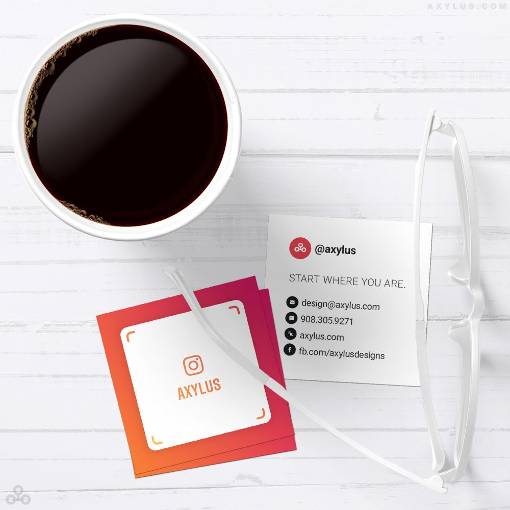 Mini IG Nametag Business Cards • Social Media Marketing