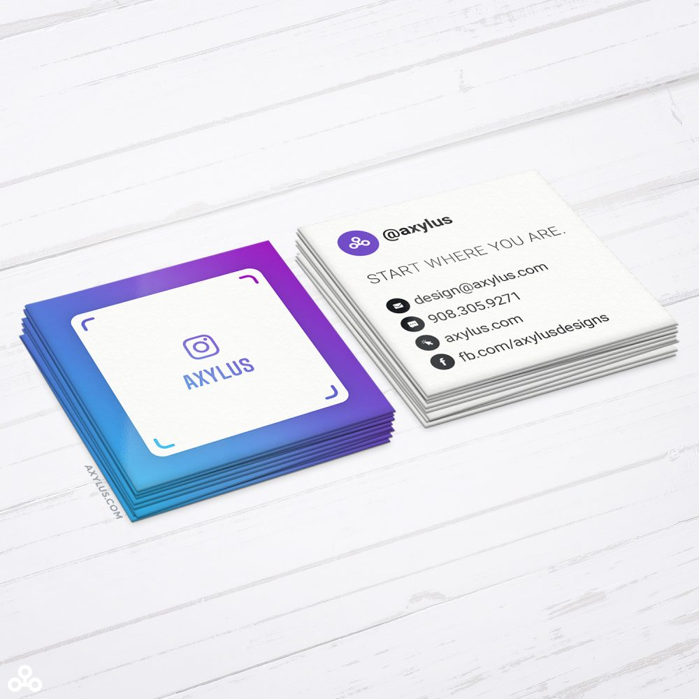 Mini IG Nametag Square Business Cards • Social Media Marketing