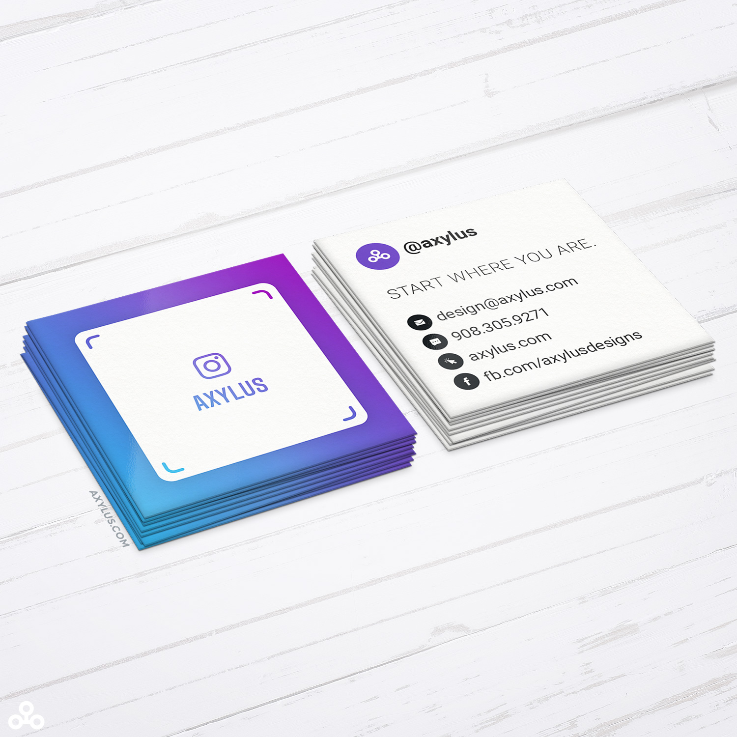 Mini IG Nametag Business Cards • Social Media Marketing • 2x2 Inches