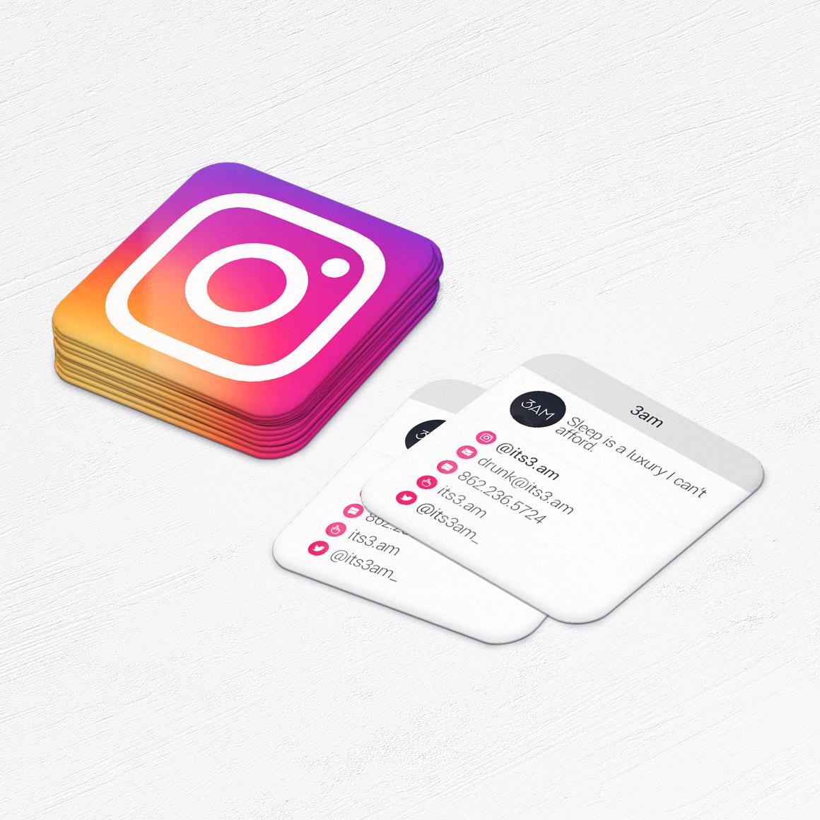 mini instgram business cards • social media marketing