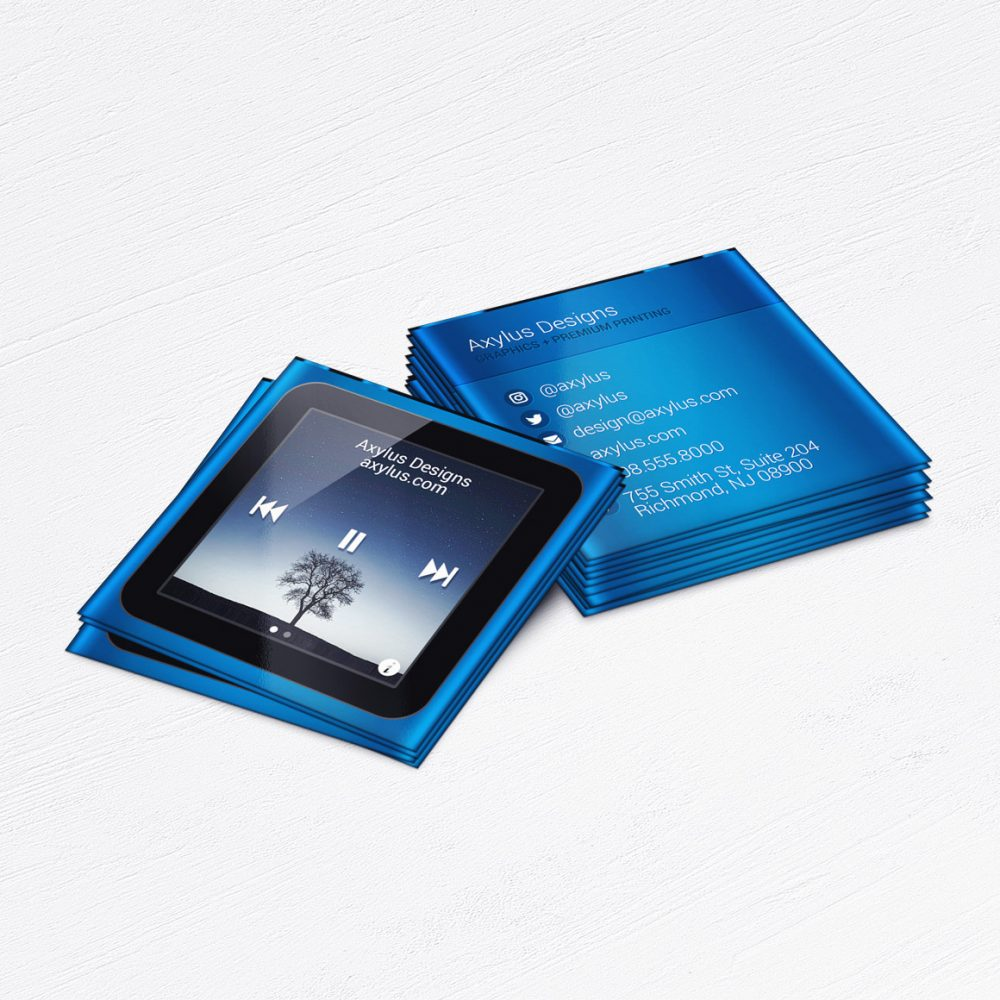 iPod Business Cards • Music Producer, Singer Calling Cards