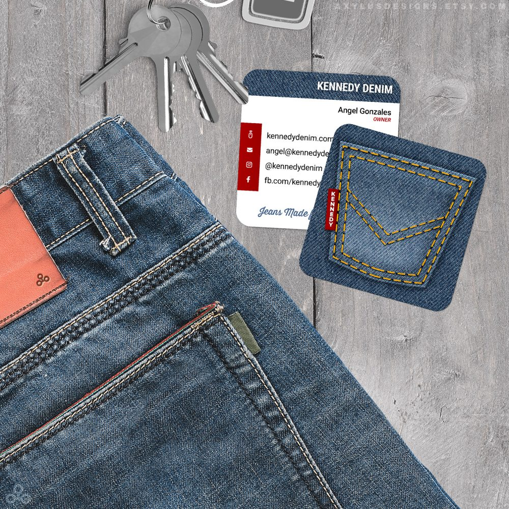Jeans Store Business Cards