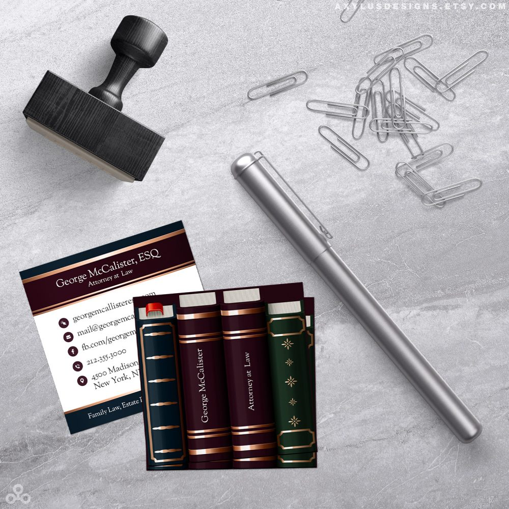 Law Books Law Firm and Attorney Business Cards
