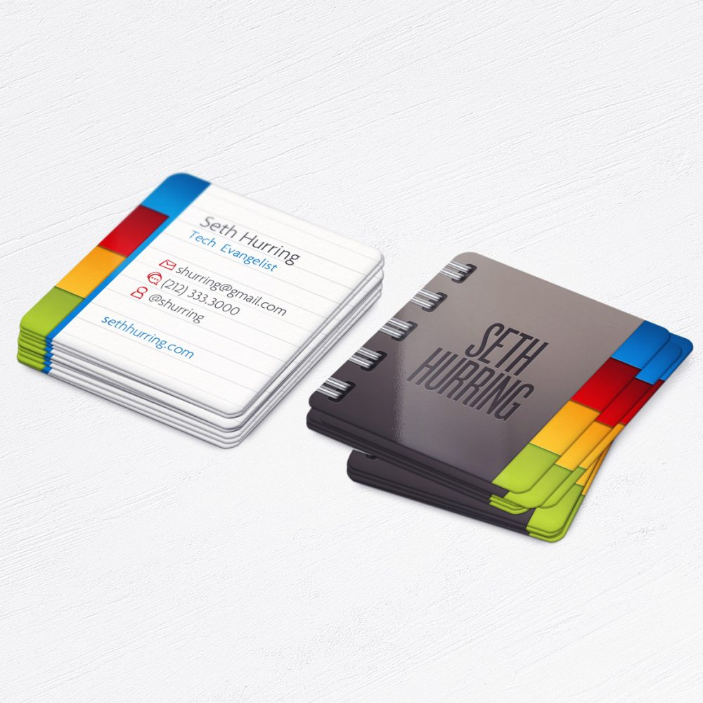 Mini Notebook Square Tutor Business Cards