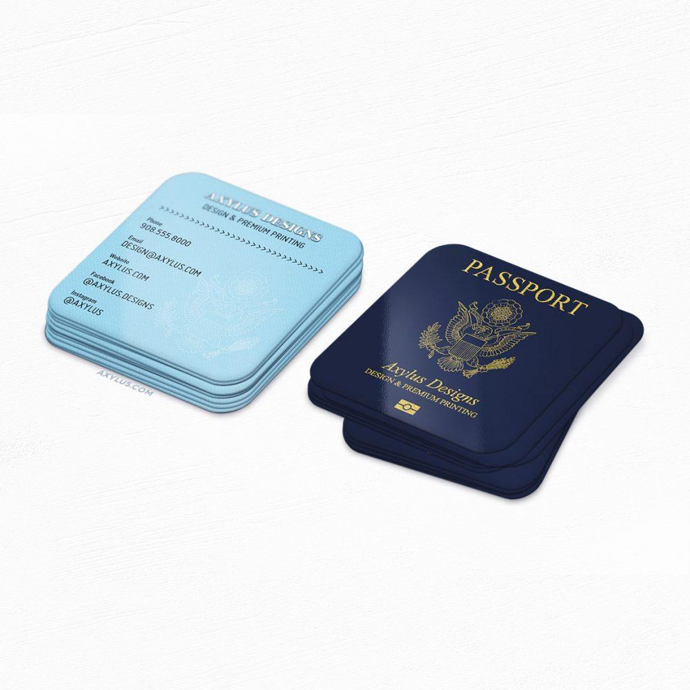 Travel Blogger Passport Mini Cards • Travel Agent Business Cards