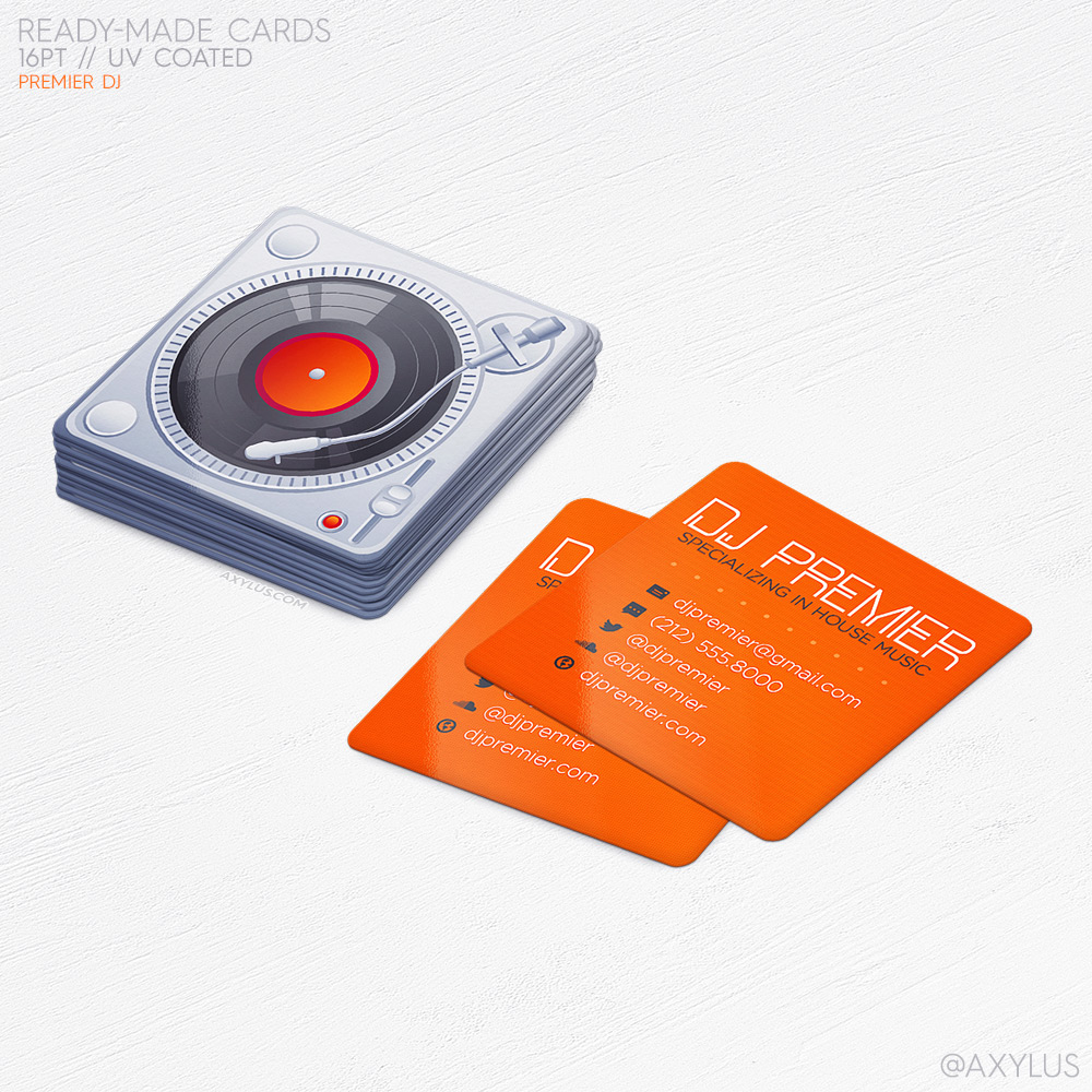Premier DJ Business Cards