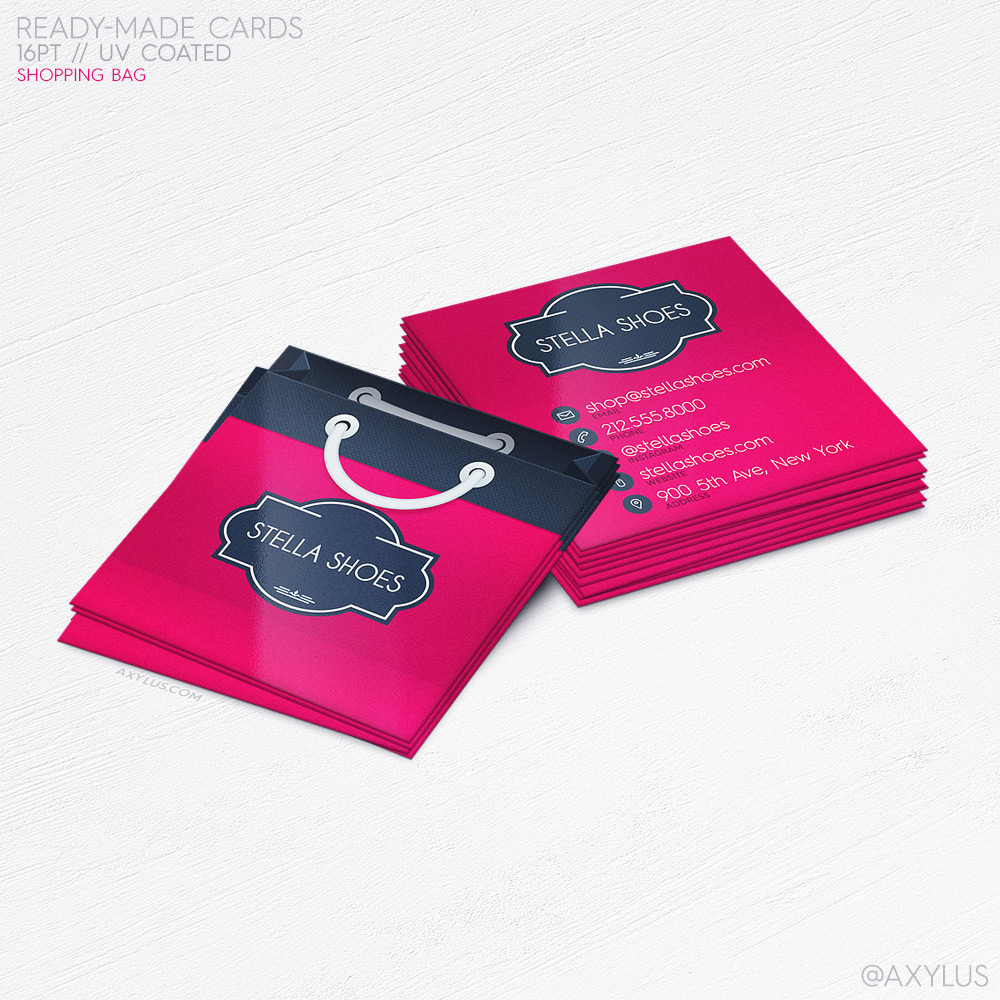 Shopping Bag Business Cards – Boutique/Store Branding and Marketing