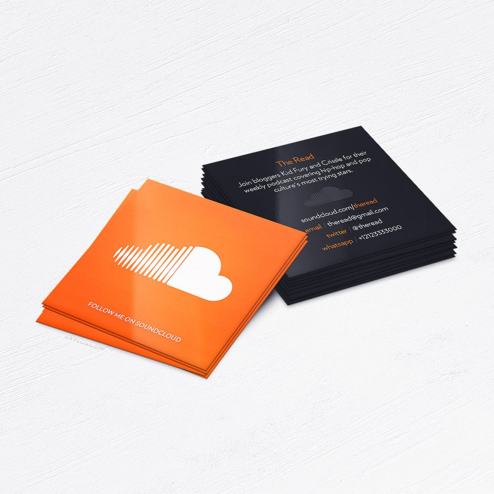 Rapper Producer Soundcloud Business Cards