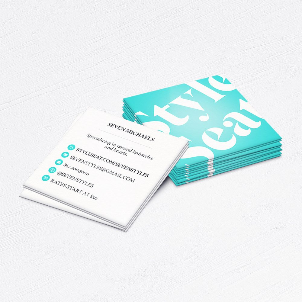 Style Seat Business Cards • Hairstylist, Barber, Nail Tech Calling Cards