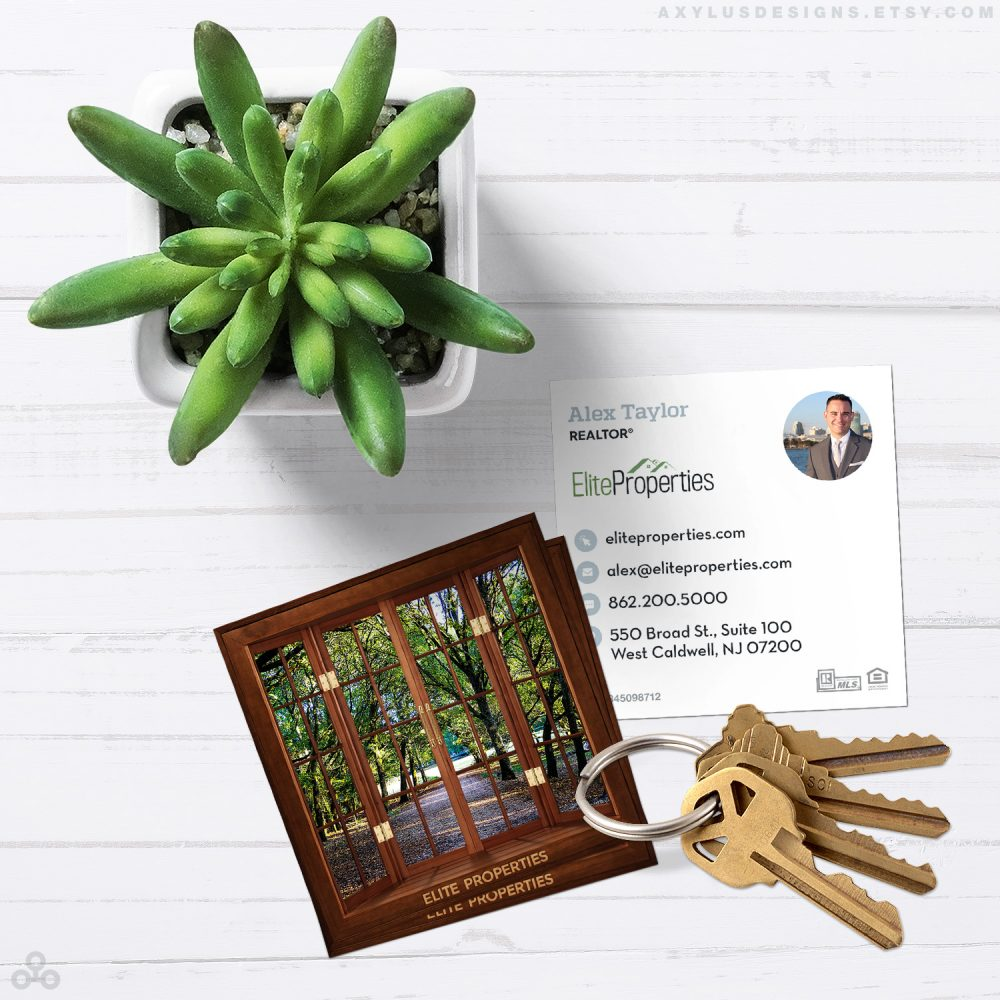 Custom Built Homes Business Cards - Real Estate Business Cards