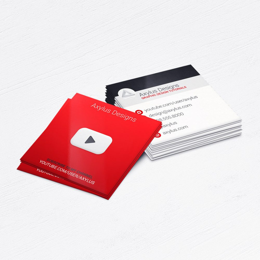 YouTube Business Cards • Social Media Vlogger Marketing